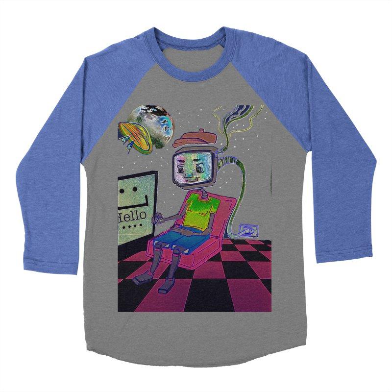Robot World Women's Baseball Triblend Longsleeve T-Shirt by peacewild's Artist Shop