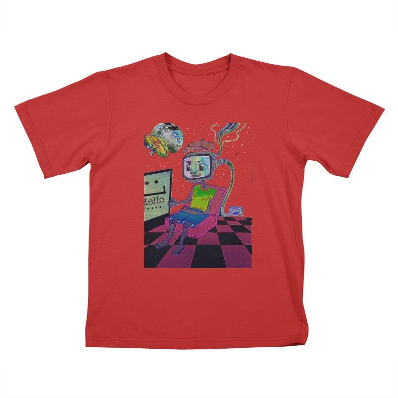 Robot World Kids T-Shirt by peacewild's Artist Shop