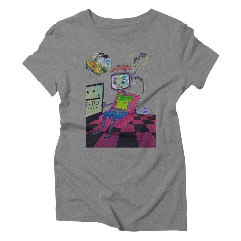 Robot World Women's Triblend T-Shirt by peacewild's Artist Shop