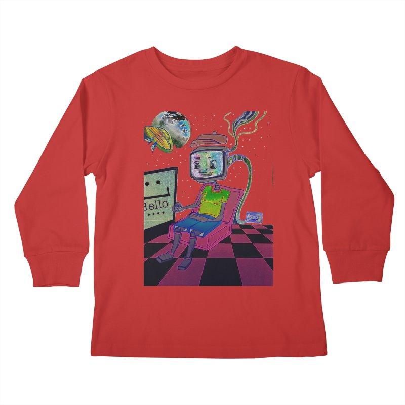 Robot World Kids Longsleeve T-Shirt by peacewild's Artist Shop