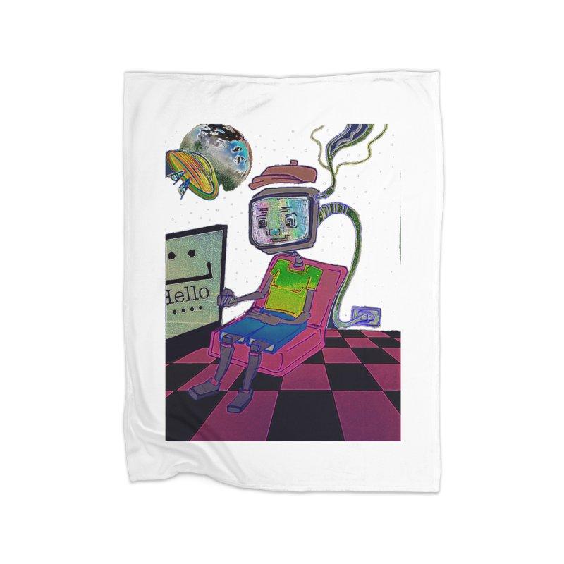 Robot World Home Blanket by peacewild's Artist Shop
