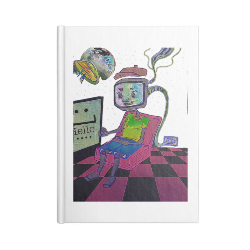 Robot World Accessories Notebook by peacewild's Artist Shop
