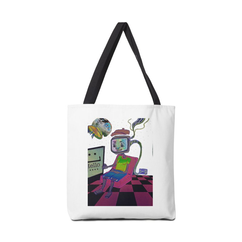 Robot World Accessories Bag by peacewild's Artist Shop