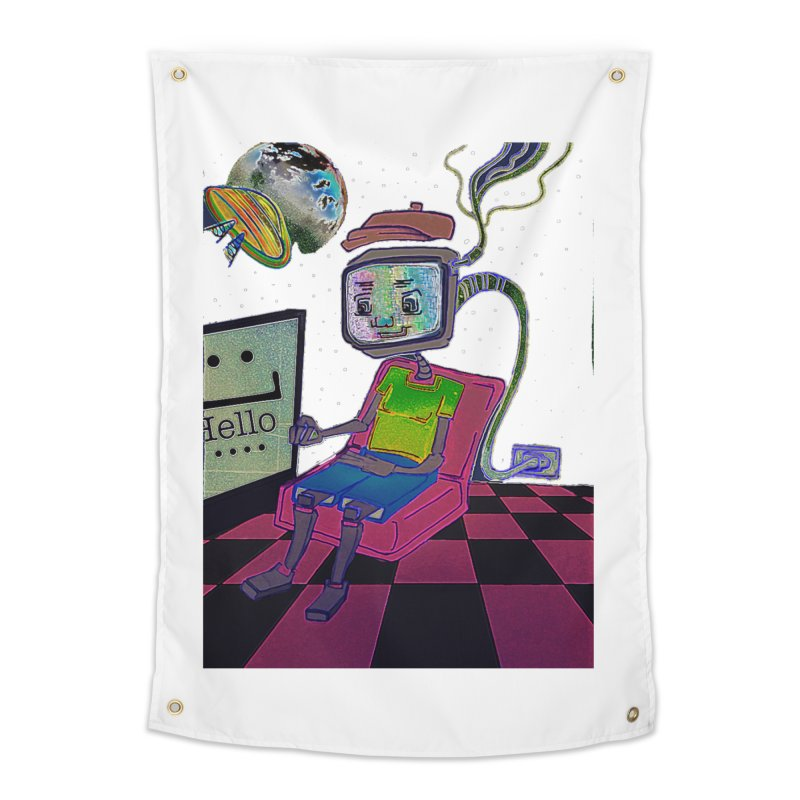 Robot World Home Tapestry by peacewild's Artist Shop