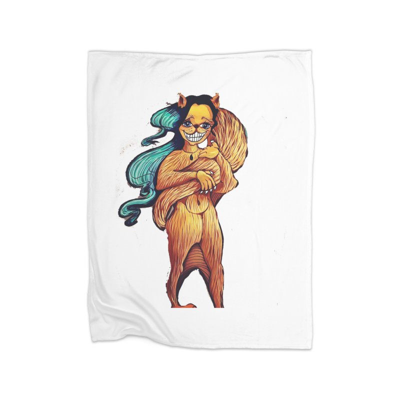 Cassy The Squirrel Home Fleece Blanket Blanket by peacewild's Artist Shop