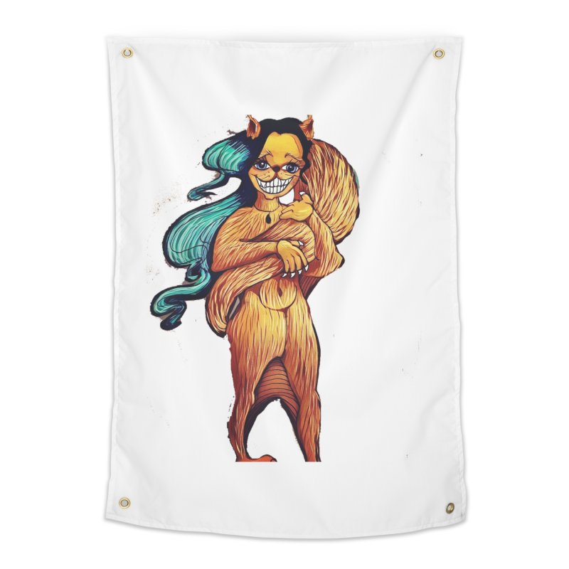 Cassy The Squirrel Home Tapestry by peacewild's Artist Shop