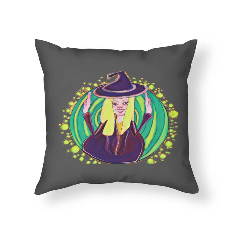 First Witch Home Throw Pillow by peacewild's Artist Shop