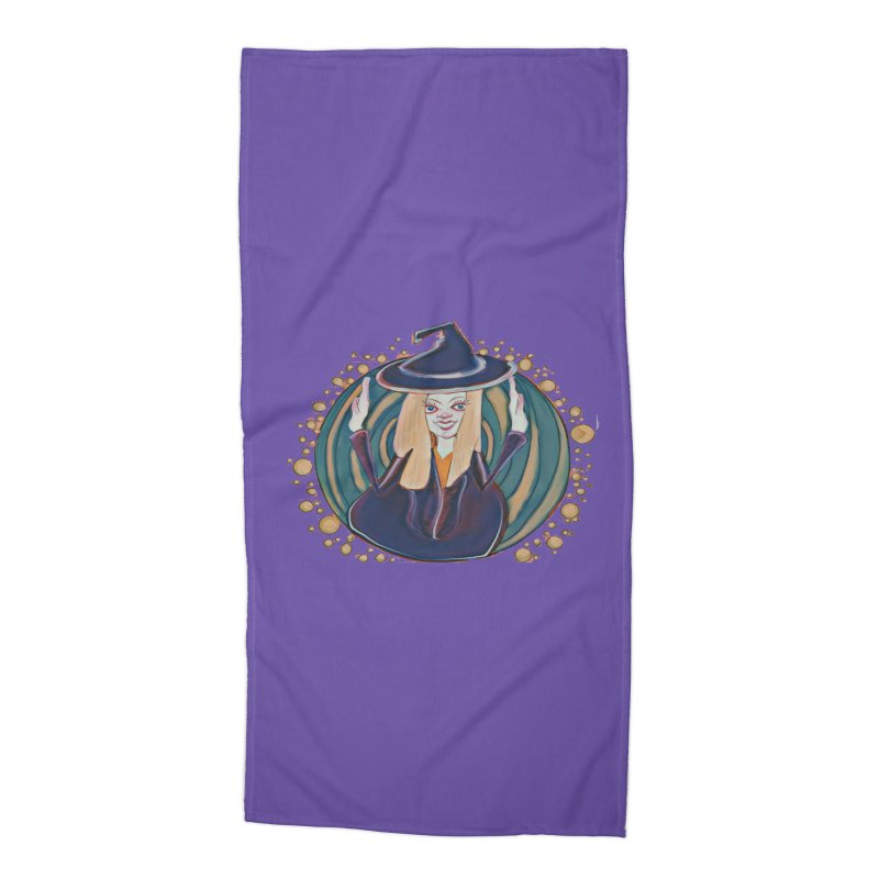 Witchy Magic Accessories Beach Towel by peacewild's Artist Shop