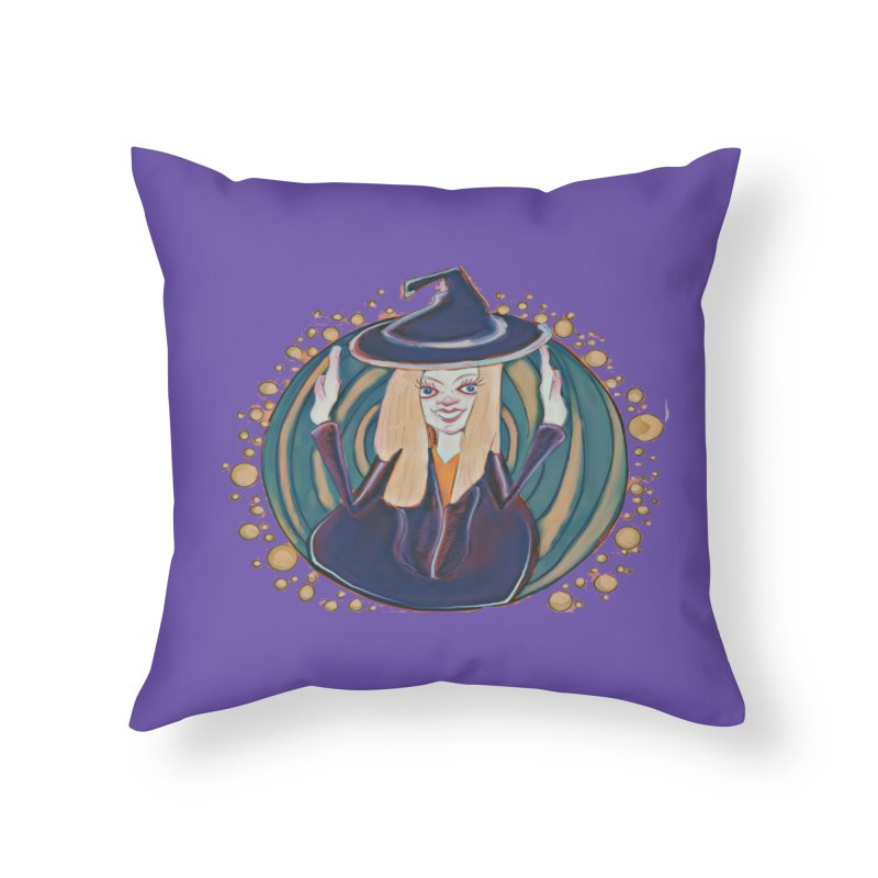 Witchy Magic Home Throw Pillow by peacewild's Artist Shop