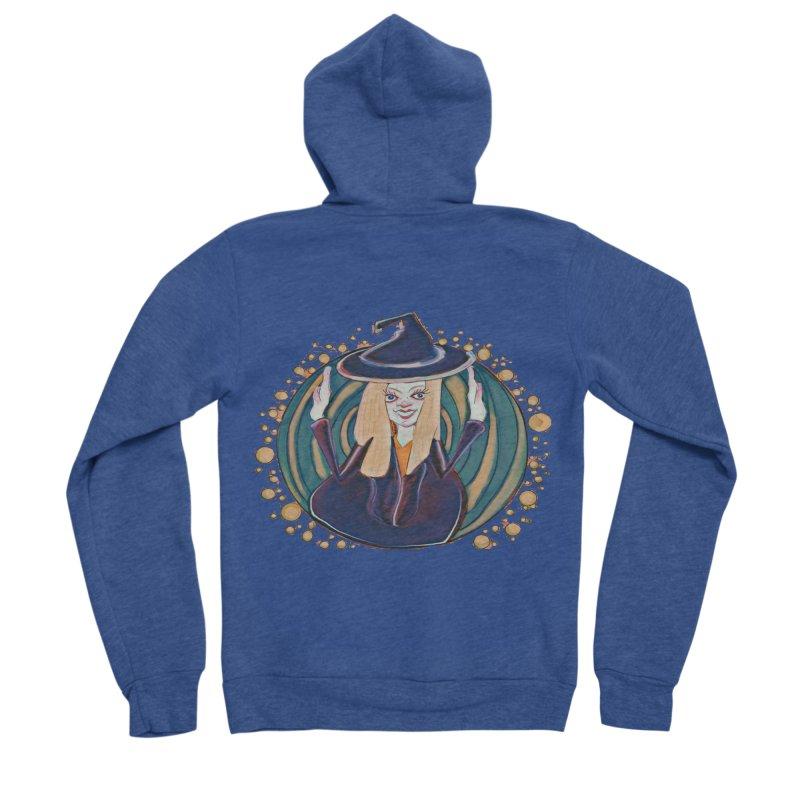 Witchy Magic Women's Sponge Fleece Zip-Up Hoody by peacewild's Artist Shop