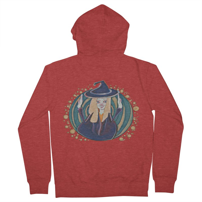 Witchy Magic Women's French Terry Zip-Up Hoody by peacewild's Artist Shop