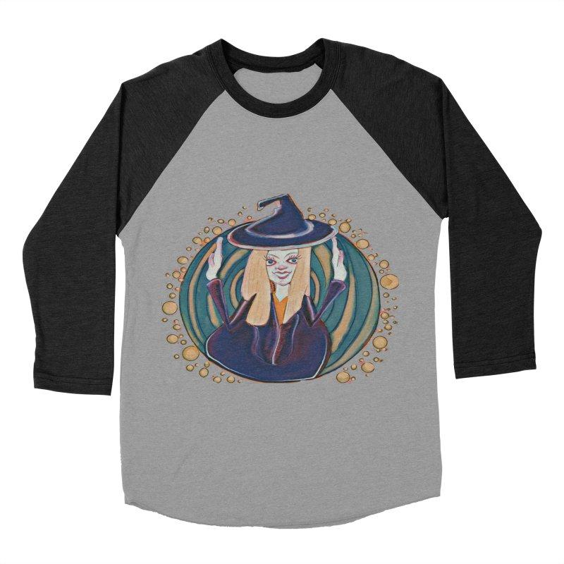 Witchy Magic Women's Baseball Triblend Longsleeve T-Shirt by peacewild's Artist Shop