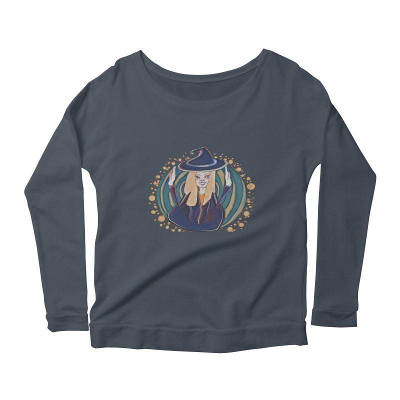 Witchy Magic Women's Scoop Neck Longsleeve T-Shirt by peacewild's Artist Shop