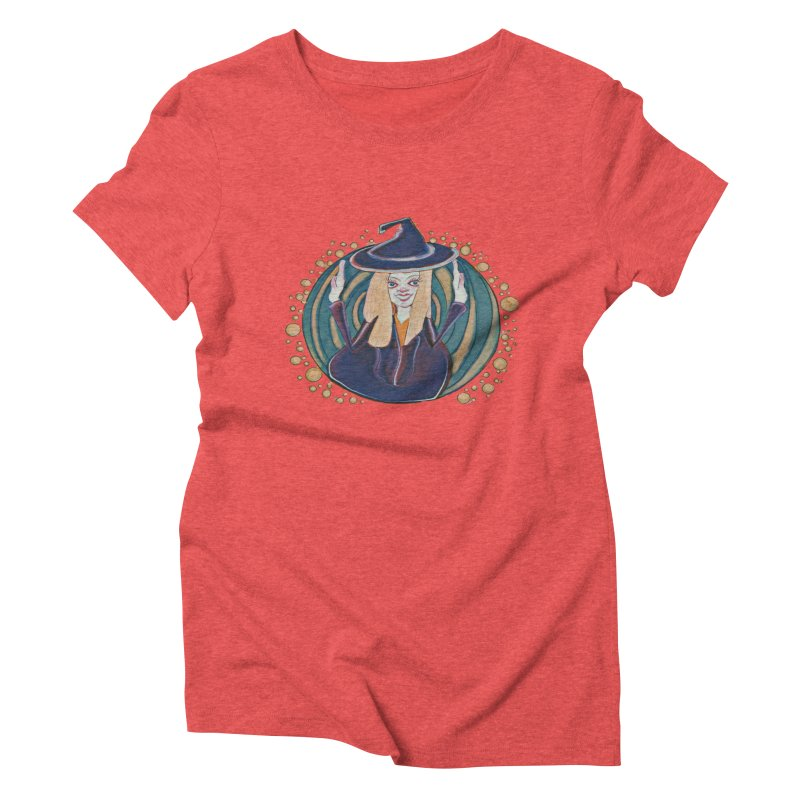 Witchy Magic Women's Triblend T-Shirt by peacewild's Artist Shop