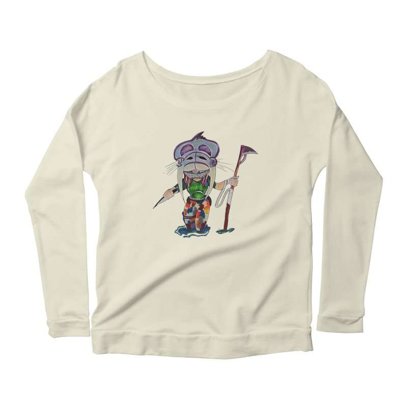 The Huntress Women's Scoop Neck Longsleeve T-Shirt by peacewild's Artist Shop