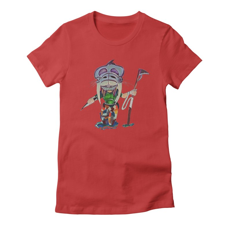 The Huntress Women's Fitted T-Shirt by peacewild's Artist Shop