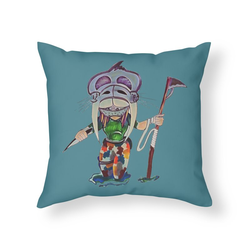 The Huntress Home Throw Pillow by peacewild's Artist Shop