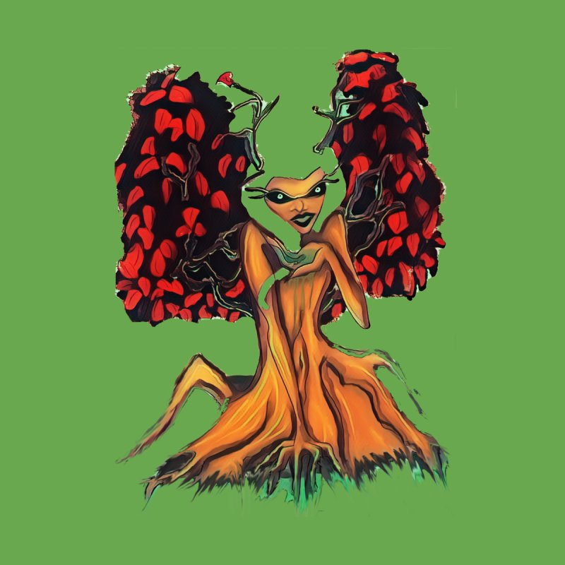 The Red Tree Fae by peacewild's Artist Shop