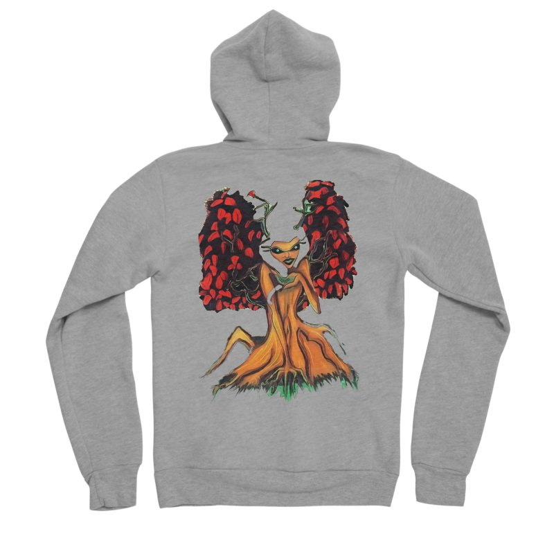 The Red Tree Fae Women's Sponge Fleece Zip-Up Hoody by peacewild's Artist Shop