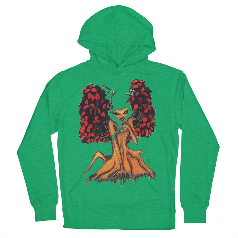 The Red Tree Fae Women's French Terry Pullover Hoody by peacewild's Artist Shop