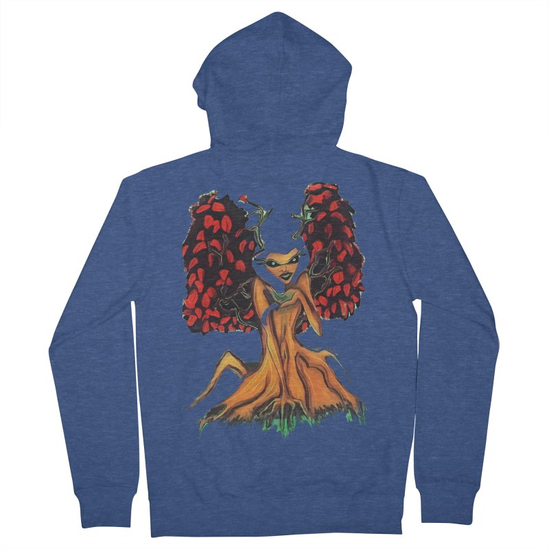 The Red Tree Fae Women's French Terry Zip-Up Hoody by peacewild's Artist Shop