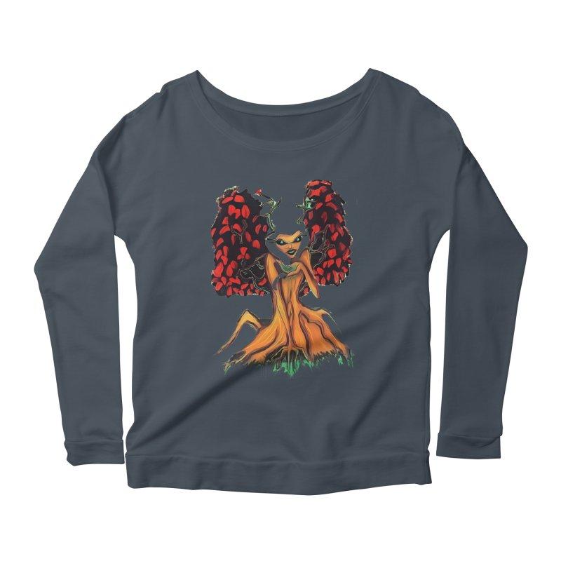The Red Tree Fae Women's Scoop Neck Longsleeve T-Shirt by peacewild's Artist Shop