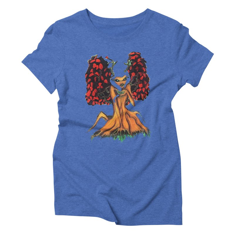The Red Tree Fae Women's Triblend T-Shirt by peacewild's Artist Shop