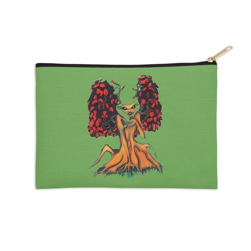 The Red Tree Fae Accessories Zip Pouch by peacewild's Artist Shop
