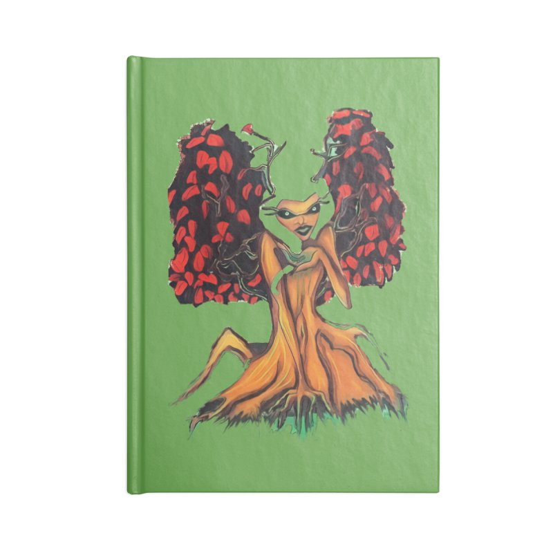The Red Tree Fae Accessories Notebook by peacewild's Artist Shop