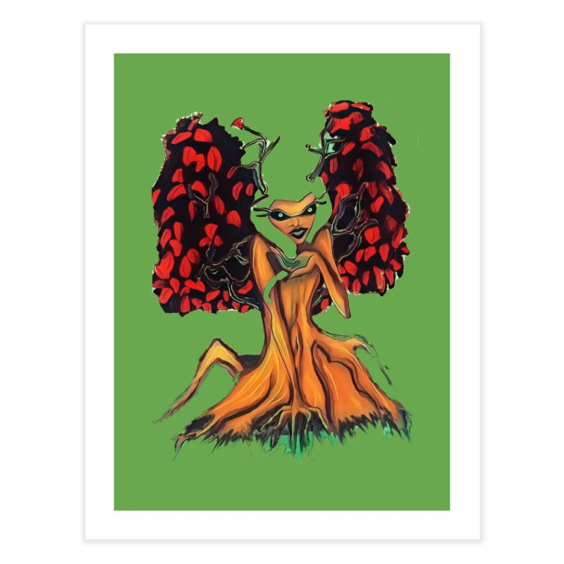 The Red Tree Fae Home Fine Art Print by peacewild's Artist Shop