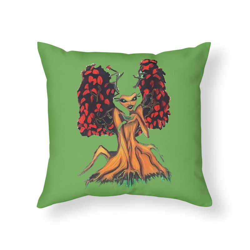 The Red Tree Fae Home Throw Pillow by peacewild's Artist Shop