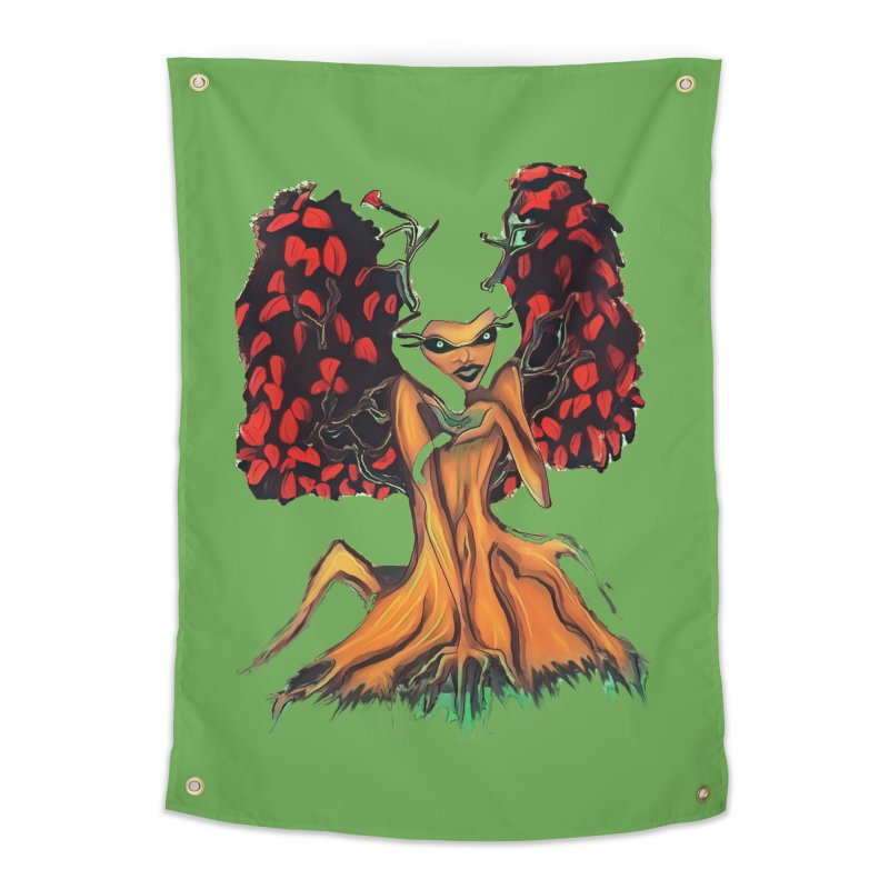 The Red Tree Fae Home Tapestry by peacewild's Artist Shop