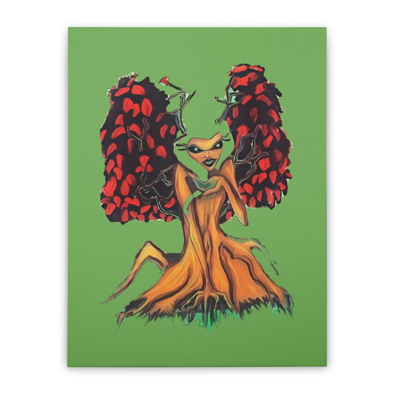 The Red Tree Fae Home Stretched Canvas by peacewild's Artist Shop