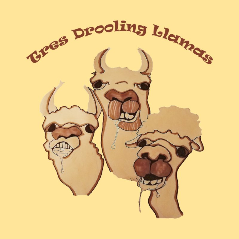 Tres Drooling Llamas by peacewild's Artist Shop