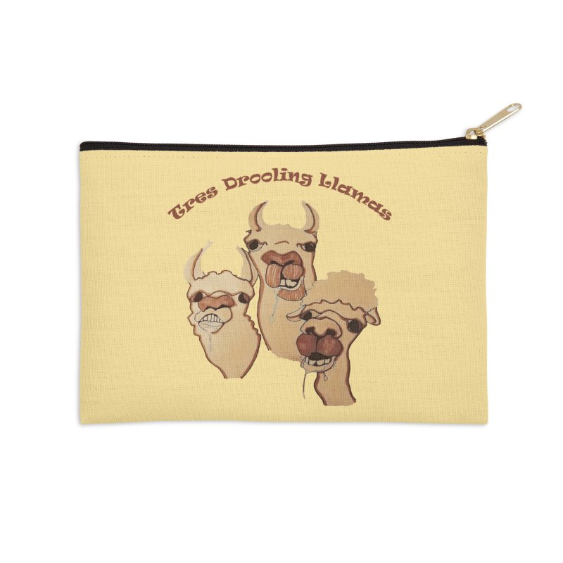 Tres Drooling Llamas Accessories Zip Pouch by peacewild's Artist Shop