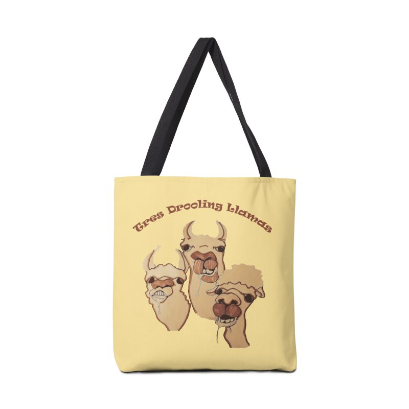 Tres Drooling Llamas Accessories Bag by peacewild's Artist Shop