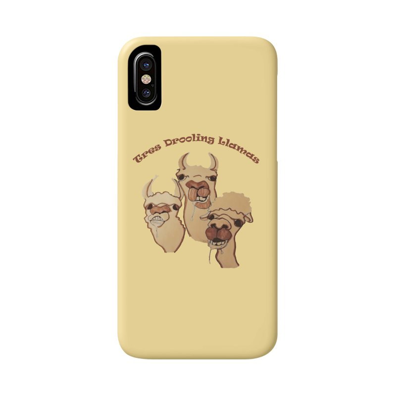 Tres Drooling Llamas Accessories Phone Case by peacewild's Artist Shop