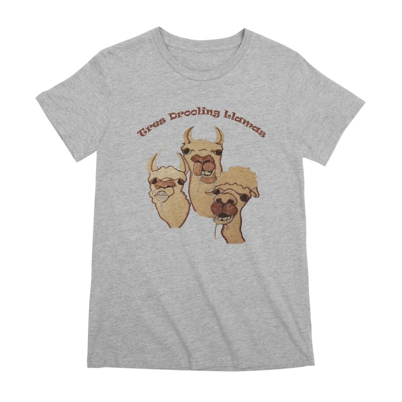 Tres Drooling Llamas Women's Premium T-Shirt by peacewild's Artist Shop