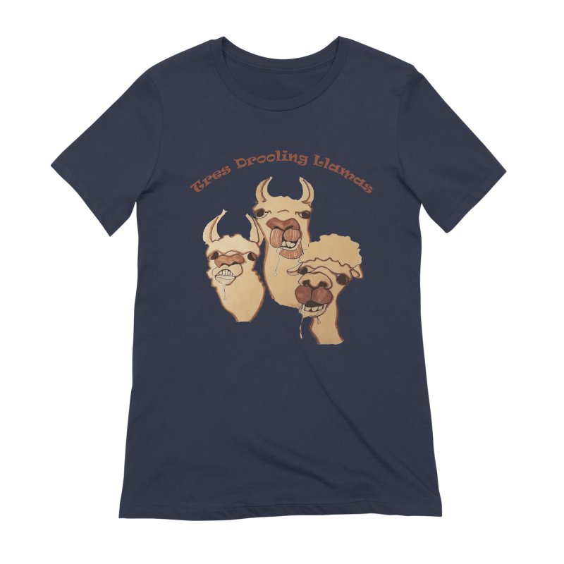 Tres Drooling Llamas Women's Extra Soft T-Shirt by peacewild's Artist Shop