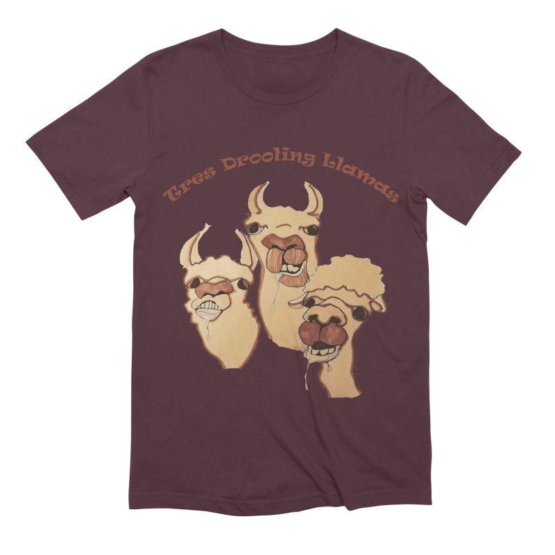 Tres Drooling Llamas Men's Extra Soft T-Shirt by peacewild's Artist Shop
