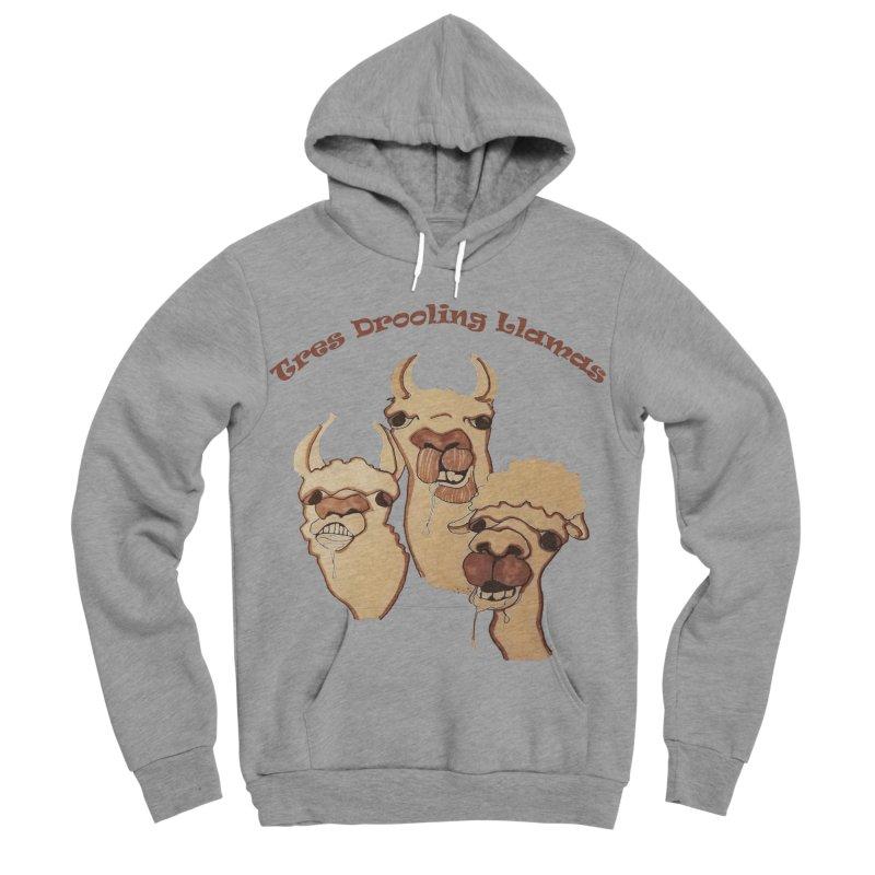 Tres Drooling Llamas Men's Sponge Fleece Pullover Hoody by peacewild's Artist Shop