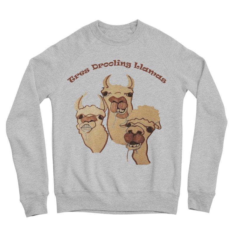 Tres Drooling Llamas Women's Sponge Fleece Sweatshirt by peacewild's Artist Shop