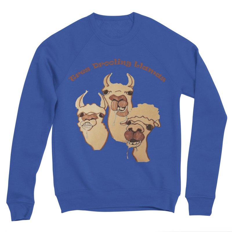 Tres Drooling Llamas Men's Sponge Fleece Sweatshirt by peacewild's Artist Shop