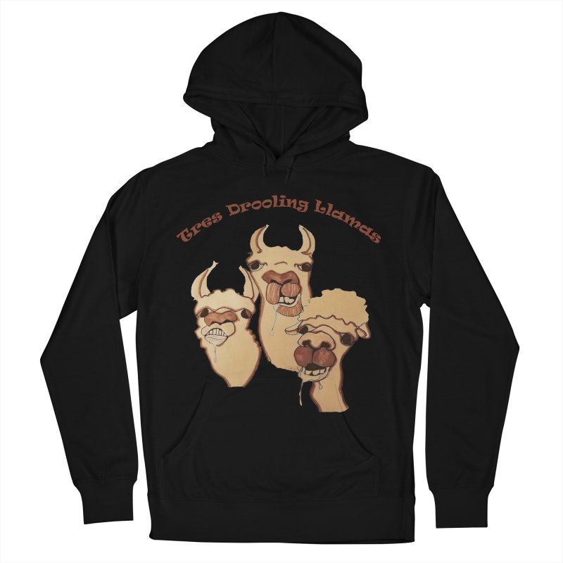 Tres Drooling Llamas Women's French Terry Pullover Hoody by peacewild's Artist Shop