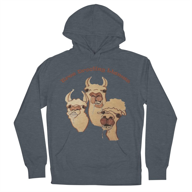 Tres Drooling Llamas Men's French Terry Pullover Hoody by peacewild's Artist Shop