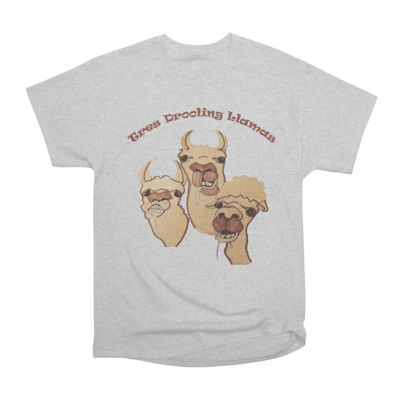 Tres Drooling Llamas Women's Heavyweight Unisex T-Shirt by peacewild's Artist Shop
