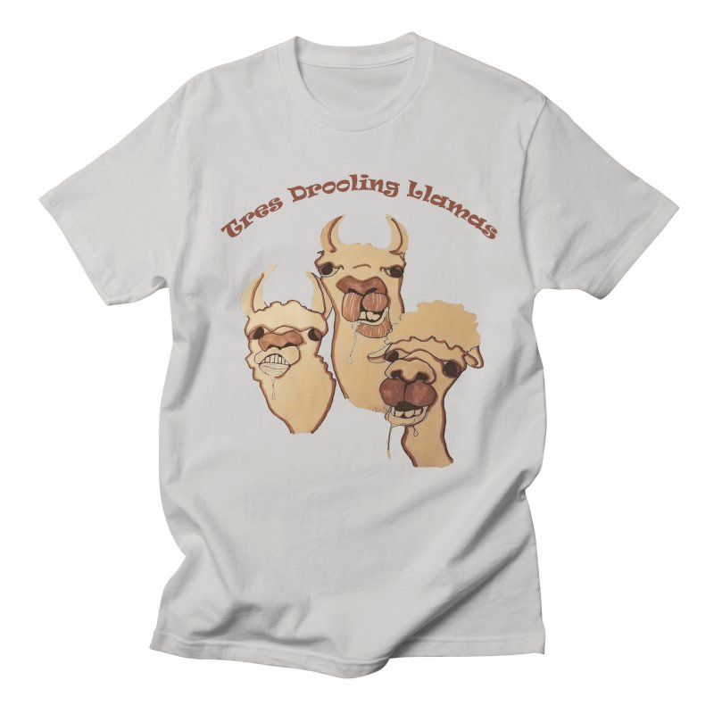 Tres Drooling Llamas Men's Regular T-Shirt by peacewild's Artist Shop