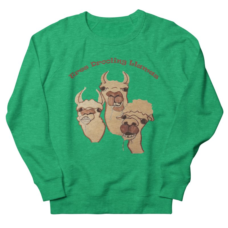 Tres Drooling Llamas Men's French Terry Sweatshirt by peacewild's Artist Shop