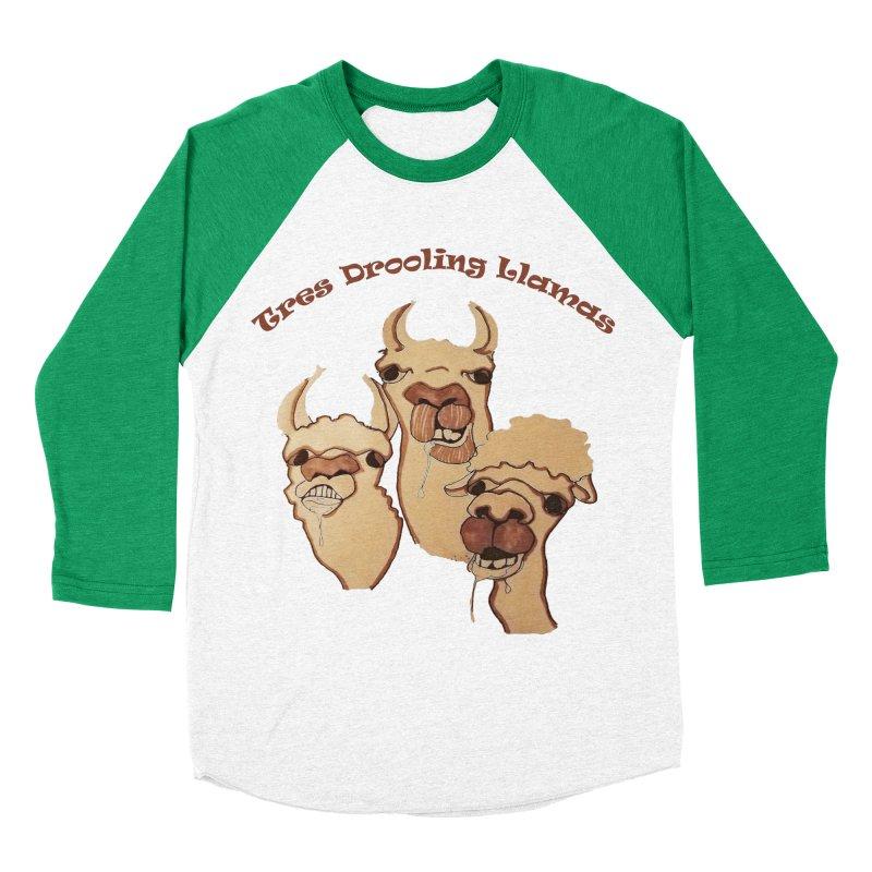Tres Drooling Llamas Women's Baseball Triblend Longsleeve T-Shirt by peacewild's Artist Shop