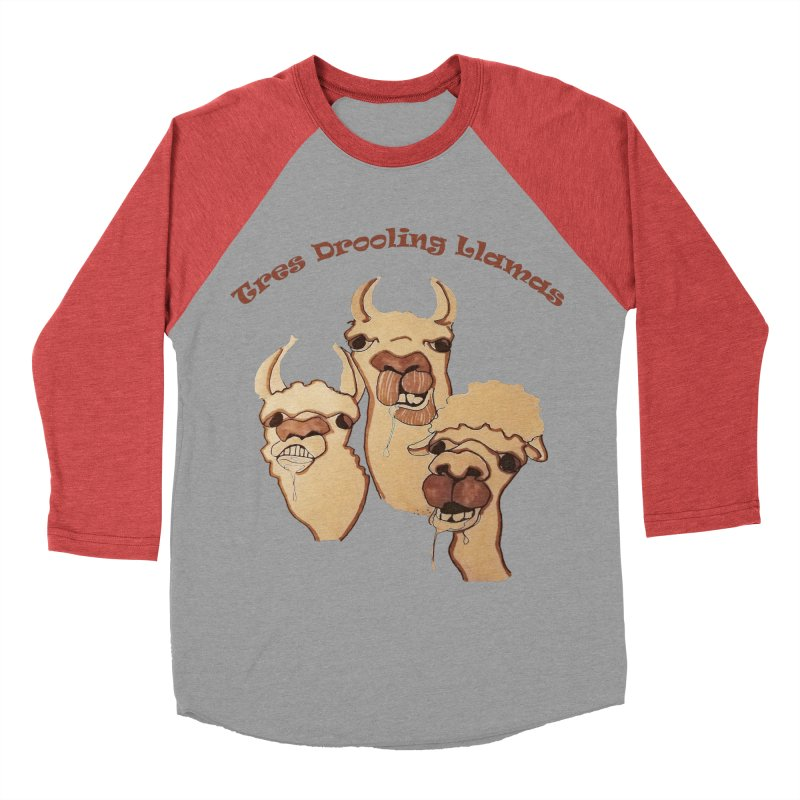 Tres Drooling Llamas Men's Baseball Triblend Longsleeve T-Shirt by peacewild's Artist Shop